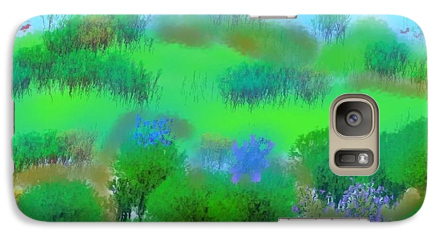 Morning Galaxy S7 Case featuring the digital art My Morning Window View by Dr Loifer Vladimir