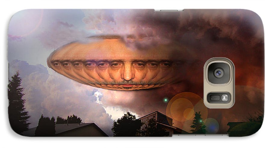 Surrealism Galaxy S7 Case featuring the digital art Mystic Ufo by Otto Rapp