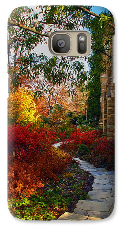 National Cathedral Galaxy S7 Case featuring the photograph National Cathedral Path by Mitch Cat