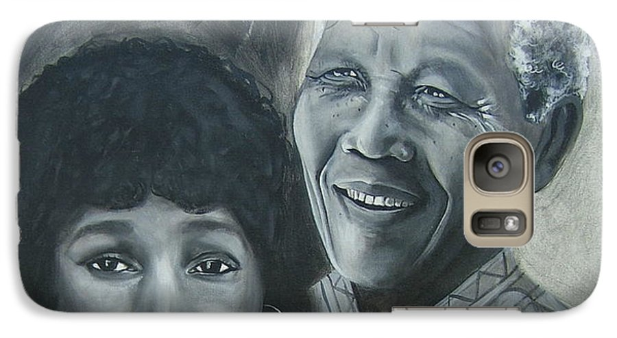 From Black & White Series Galaxy S7 Case featuring the painting Nelson And Winnie by Howard Stroman
