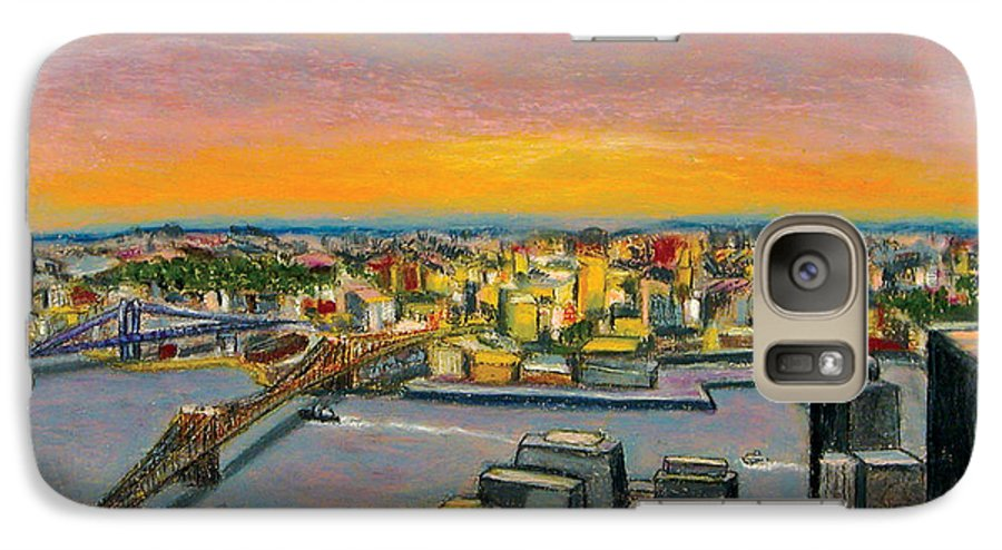 Cityscape Galaxy S7 Case featuring the painting New York 38 by Karin Batten