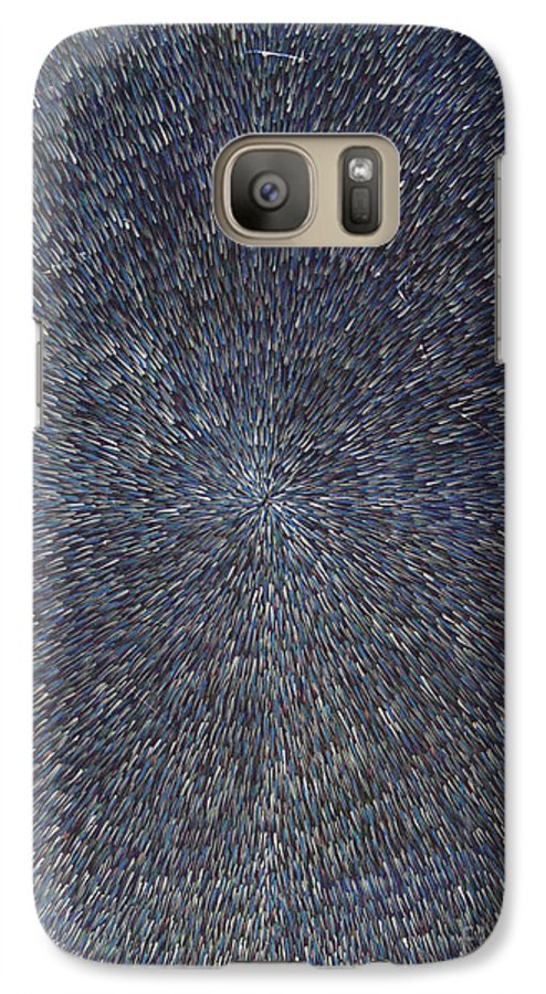 Abstract Galaxy S7 Case featuring the painting Night Radiation by Dean Triolo