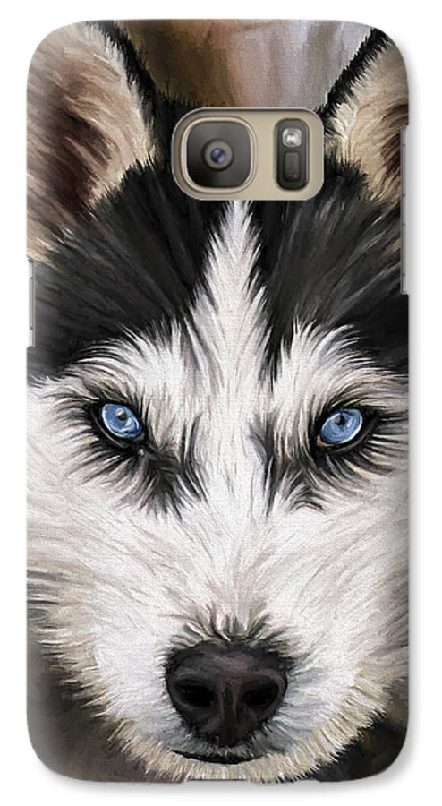 Dog Art Galaxy S7 Case featuring the painting Nikki by David Wagner