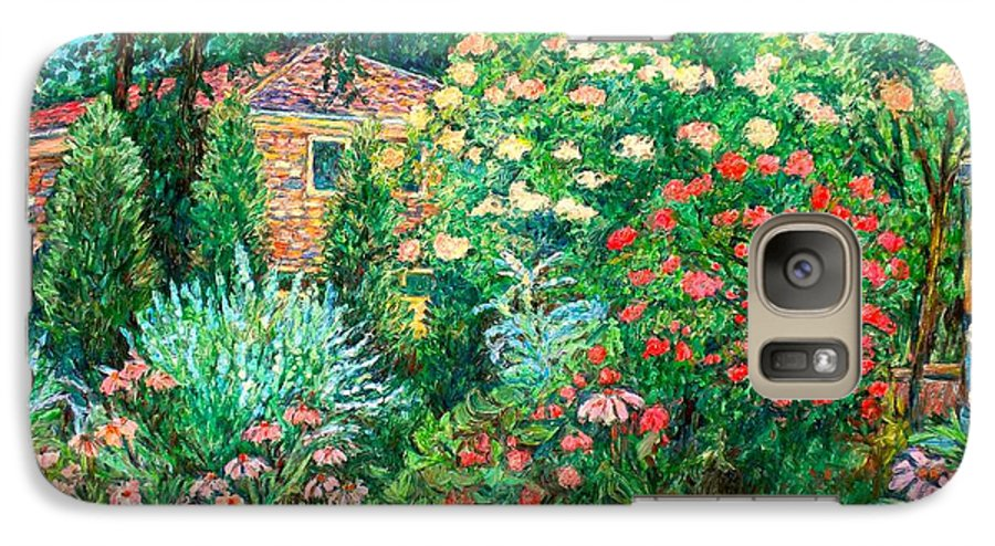 Garden Galaxy S7 Case featuring the painting North Albemarle In Mclean Va by Kendall Kessler