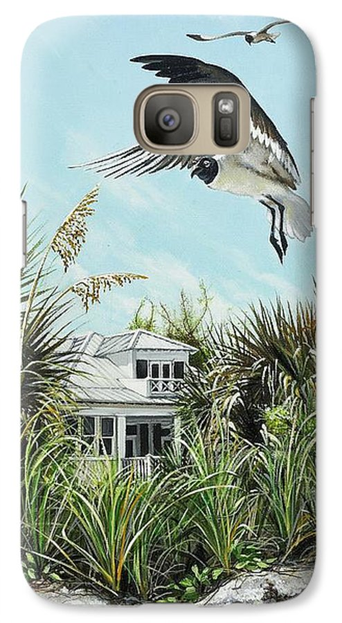 Bird Galaxy S7 Case featuring the painting North Shore Landing by Joan Garcia