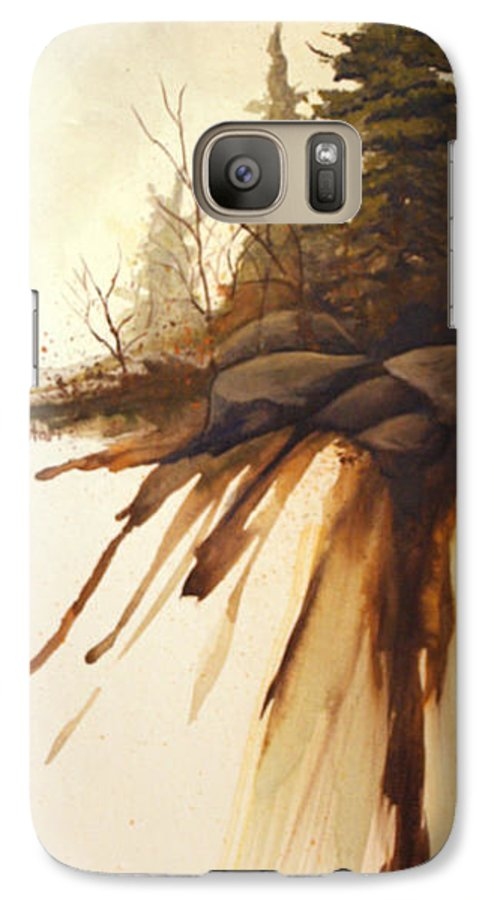 Rick Huotari Galaxy S7 Case featuring the painting North Woods Pines by Rick Huotari