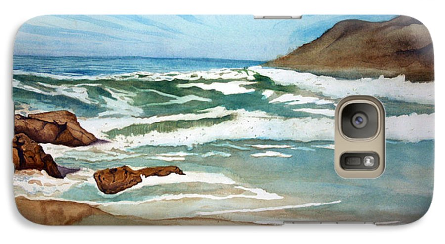 Rick Huotari Galaxy S7 Case featuring the painting Ocean Side by Rick Huotari