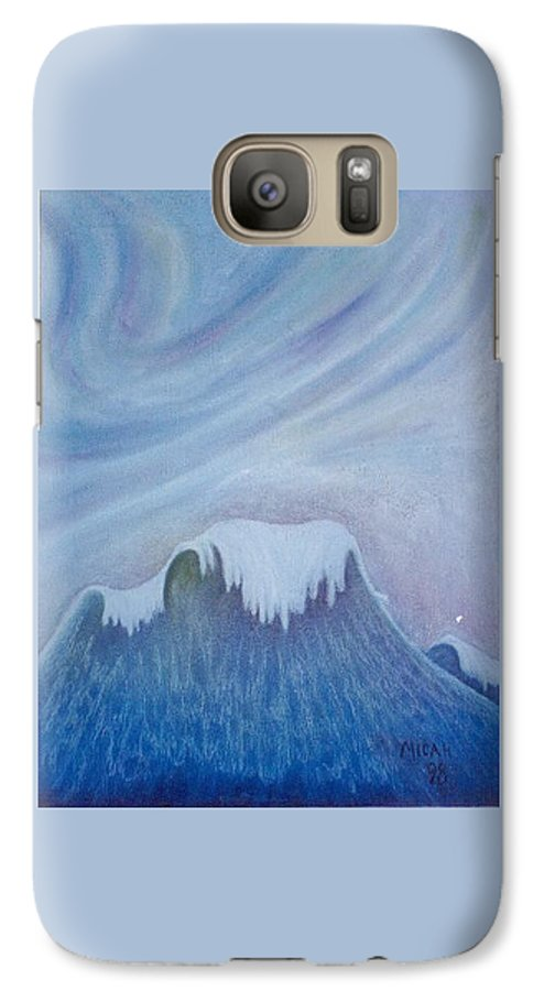 Ocean Galaxy S7 Case featuring the painting Ocean Wave by Micah Guenther