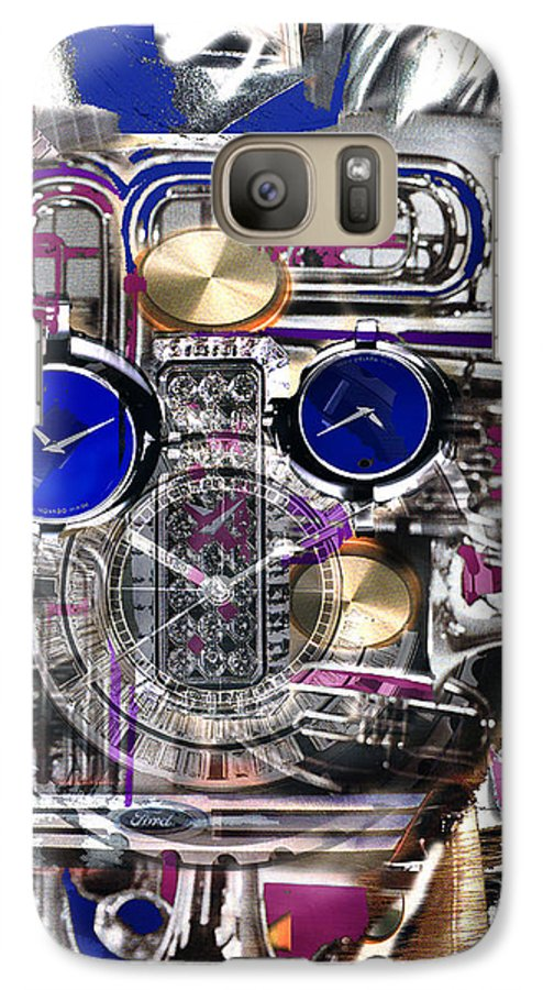 Robotic Time Traveller Galaxy S7 Case featuring the digital art Old Blue Eyes by Seth Weaver