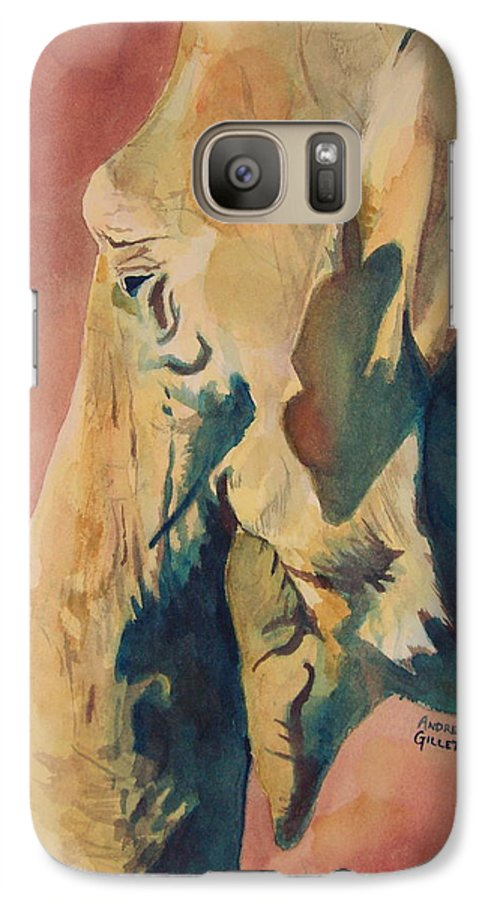 Elephant Galaxy S7 Case featuring the painting Old Elephant by Andrew Gillette
