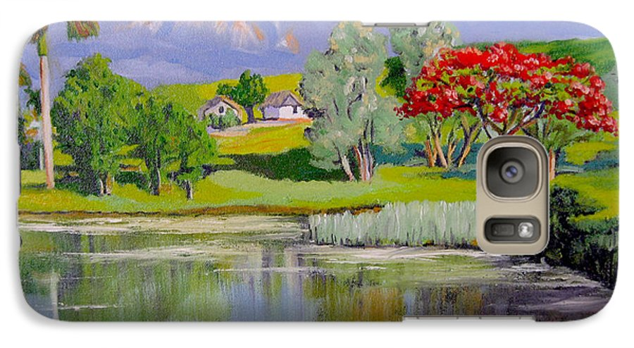 Oil Galaxy S7 Case featuring the painting Old Farm by Jose Manuel Abraham