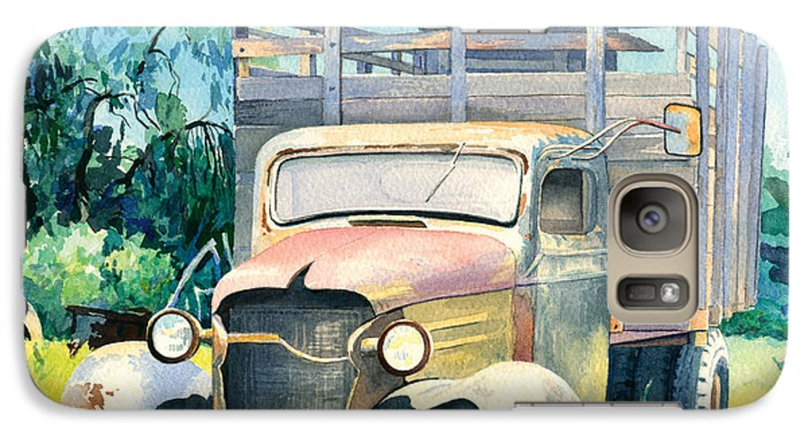 Water Color Galaxy S7 Case featuring the painting Old Kula Truck by Don Jusko