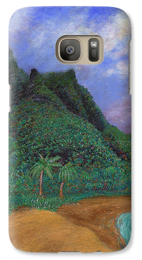 Coastal Decor Galaxy S7 Case featuring the painting On The North Shore by Kenneth Grzesik