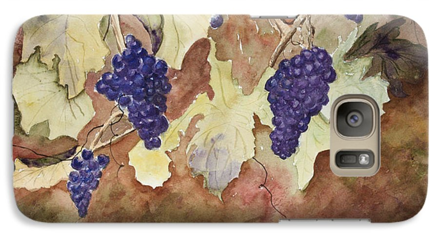 Grapes Galaxy S7 Case featuring the painting On The Vine by Patricia Novack
