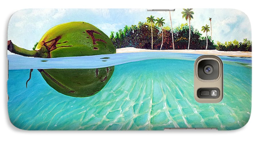 Coconut Galaxy S7 Case featuring the painting On The Way by Jose Manuel Abraham