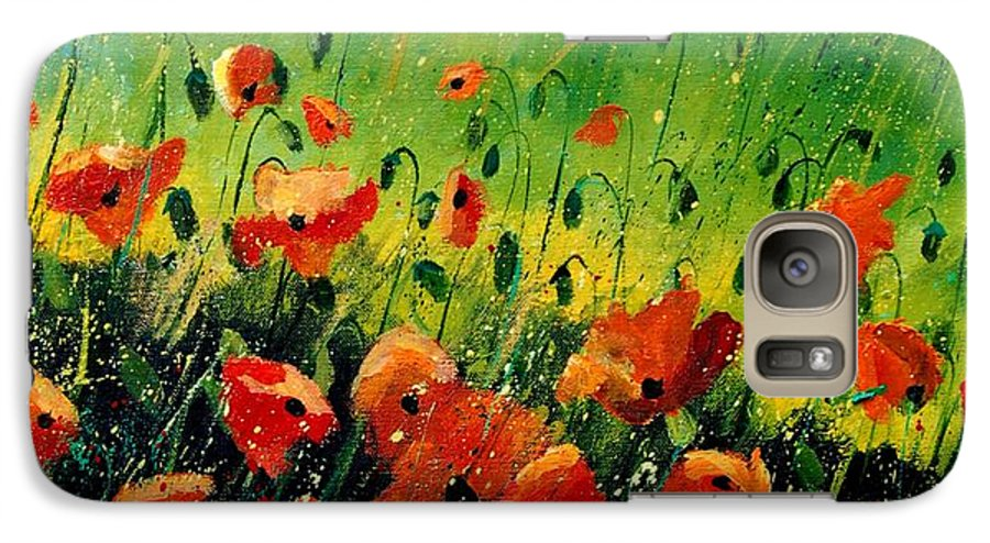 Poppies Galaxy S7 Case featuring the painting Orange Poppies by Pol Ledent