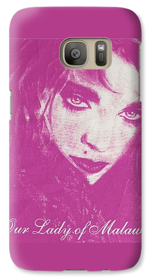 Madonna Galaxy S7 Case featuring the drawing Our Lady Of Malawi Madonna by Ayka Yasis