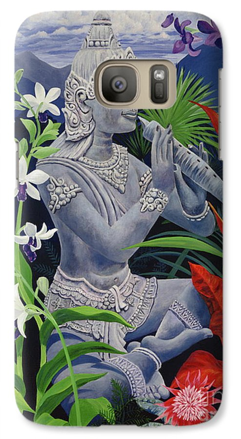 Buddah Galaxy S7 Case featuring the painting Out Of The Blue by Danielle Perry