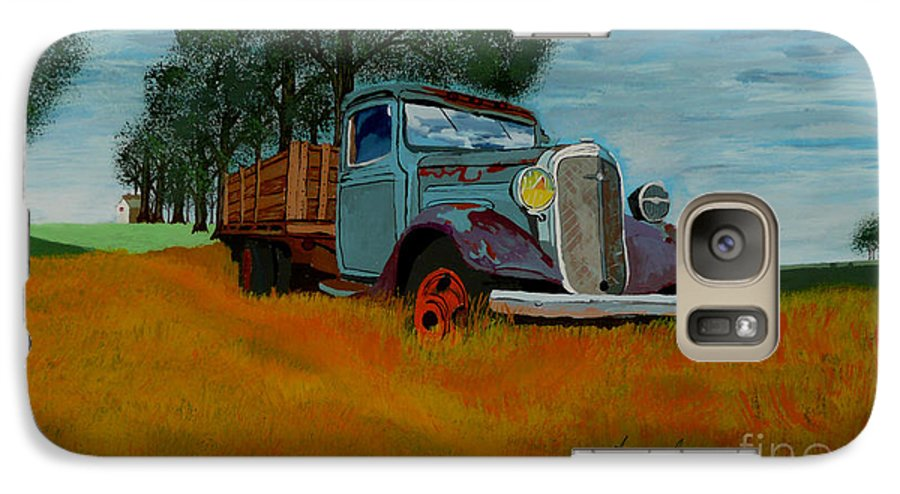 Truck Galaxy S7 Case featuring the painting Out To Pasture by Anthony Dunphy
