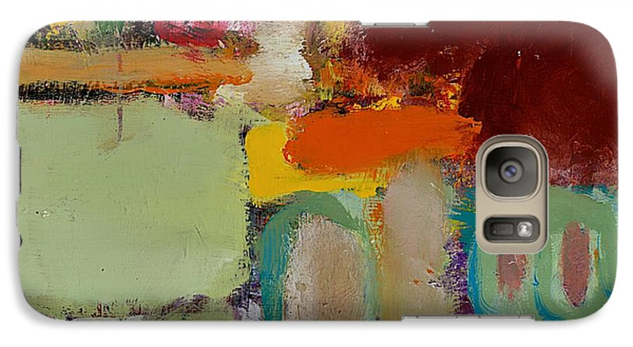 Landscape Galaxy S7 Case featuring the painting Over There by Allan P Friedlander