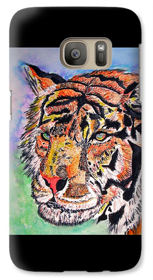 Abstract Galaxy S7 Case featuring the painting Paradise Dream by Crystal Hubbard