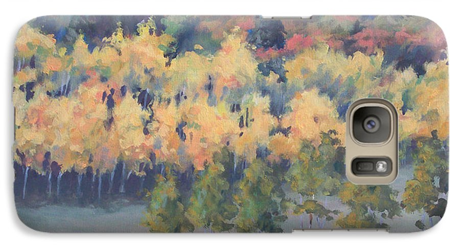 Landscape Galaxy S7 Case featuring the painting Park City Meadow by Philip Fleischer