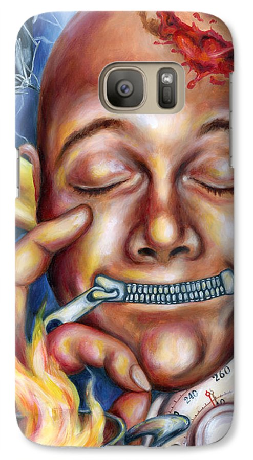 Face Galaxy S7 Case featuring the painting Peace In Mind by Hiroko Sakai