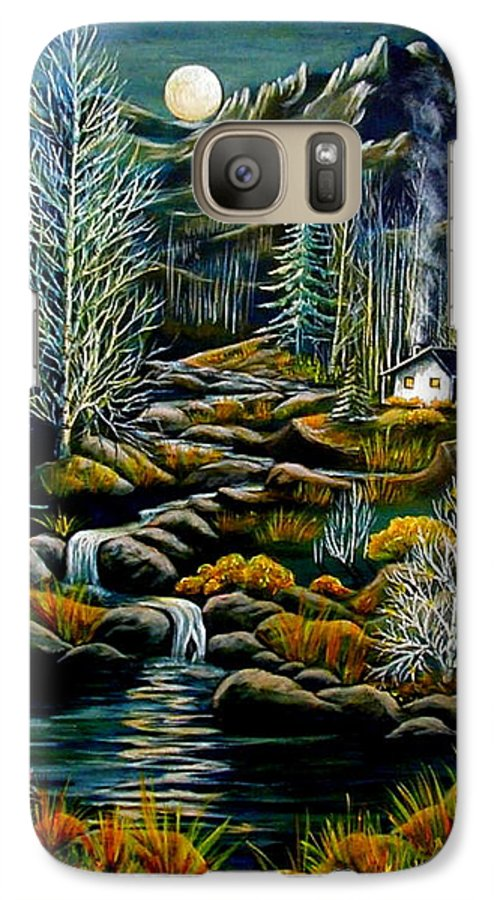 Mountains Galaxy S7 Case featuring the painting Peaceful Seclusion by Diana Dearen