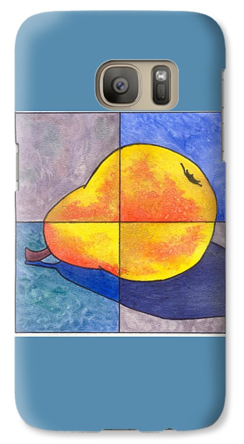 Pear Galaxy S7 Case featuring the painting Pear I by Micah Guenther