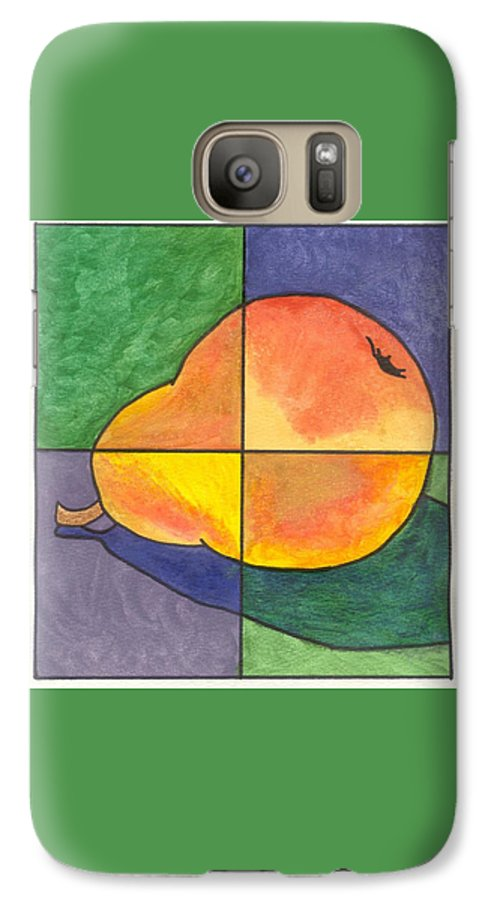 Pear Galaxy S7 Case featuring the painting Pear II by Micah Guenther
