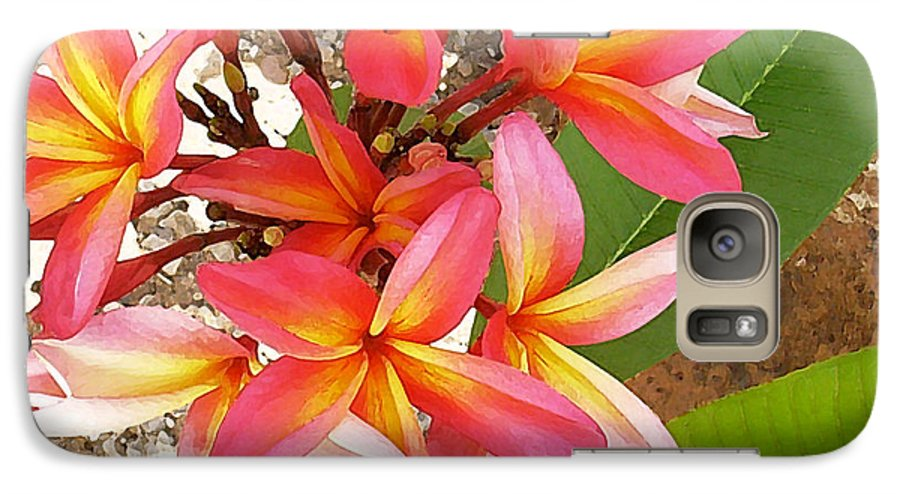 Hawaii Iphone Cases Galaxy S7 Case featuring the photograph Plantation Plumeria by James Temple
