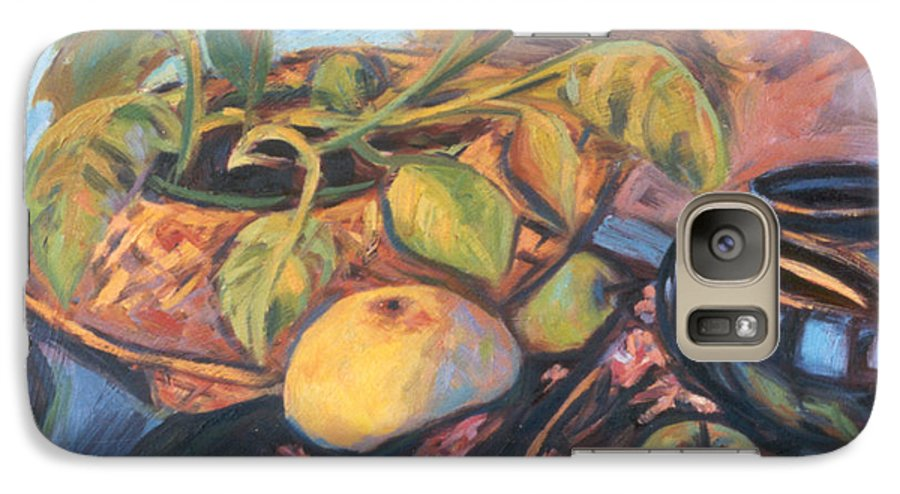 Still Life Galaxy S7 Case featuring the painting Pollys Plant by Kendall Kessler