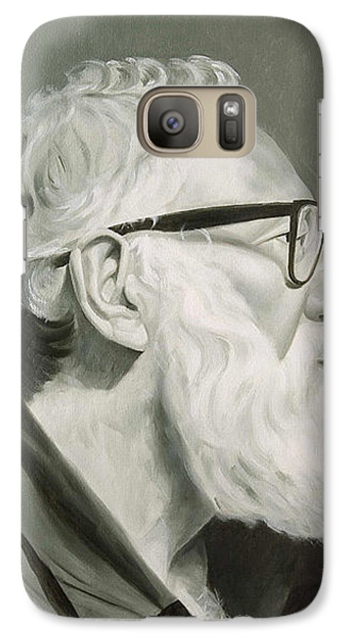 Portrait Galaxy S7 Case featuring the painting Portrait In Grisaille by Gary Hernandez
