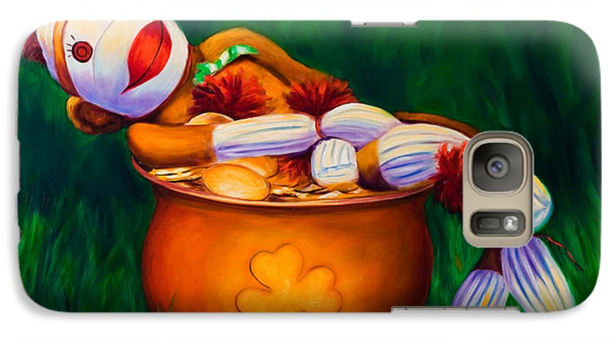 St. Patrick's Day Galaxy S7 Case featuring the painting Pot O Gold by Shannon Grissom