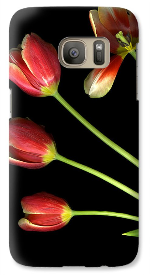 Scanography Galaxy S7 Case featuring the photograph Pot Of Tulips by Christian Slanec