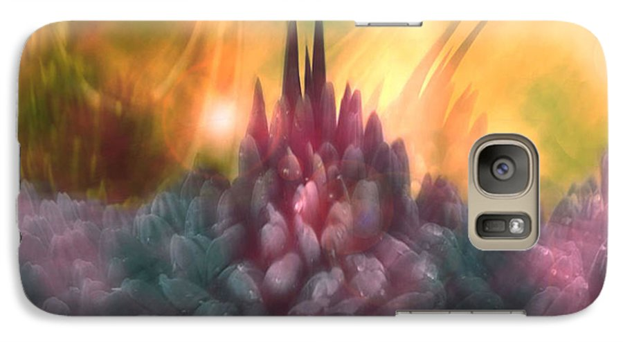 Abstract Galaxy S7 Case featuring the digital art Psychedelic Tendencies  by Linda Sannuti