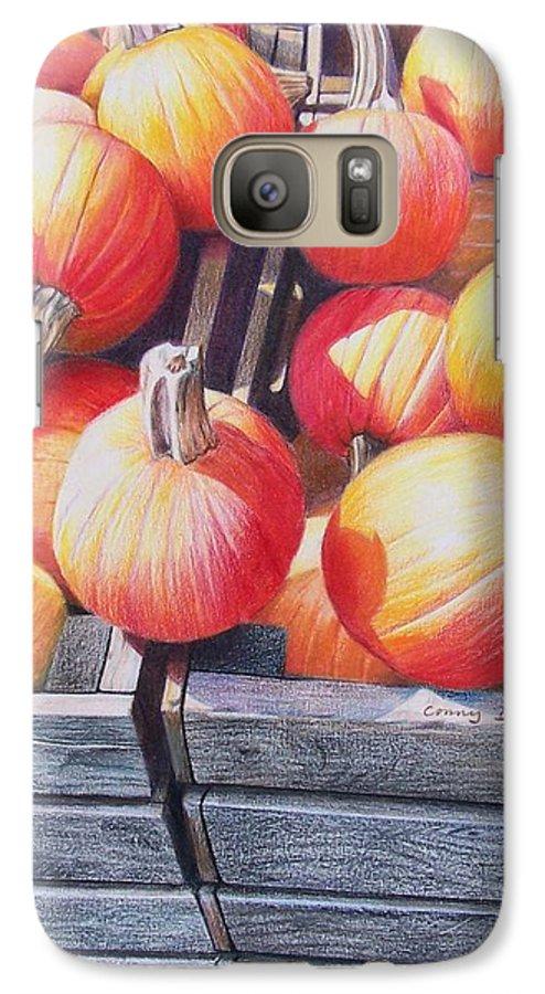 Pumpkins Galaxy S7 Case featuring the painting Pumpkins by Constance Drescher