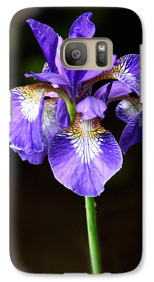 3scape Galaxy S7 Case featuring the photograph Purple Iris by Adam Romanowicz