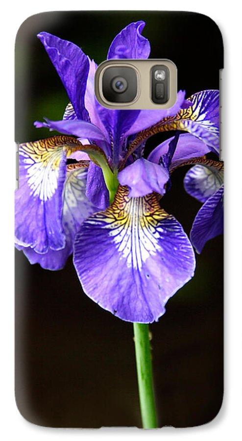 3scape Photos Galaxy S7 Case featuring the photograph Purple Iris by Adam Romanowicz