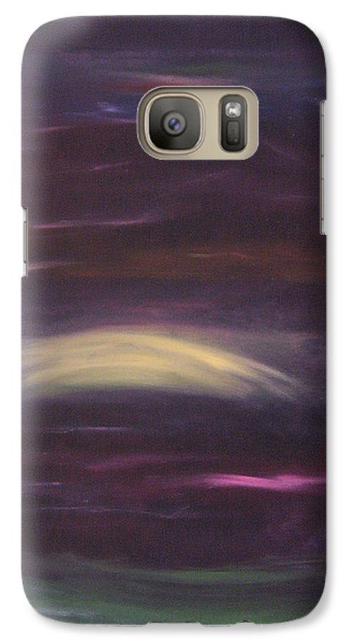 Purple Galaxy S7 Case featuring the painting Purple Night by Lindsay Clark