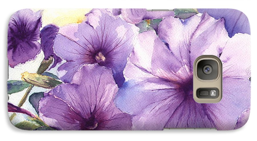 Purple Galaxy S7 Case featuring the painting Purple Profusion by Patricia Henderson