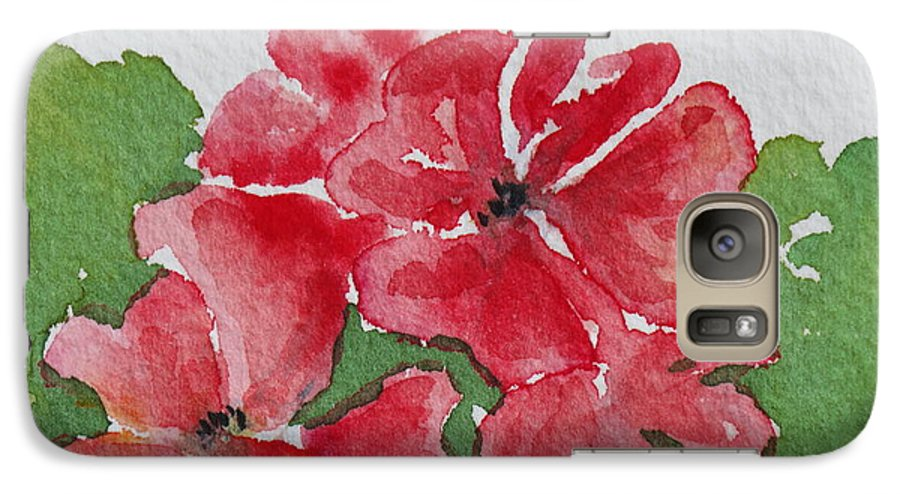Floral Galaxy S7 Case featuring the painting Pzzzazz by Mary Ellen Mueller Legault