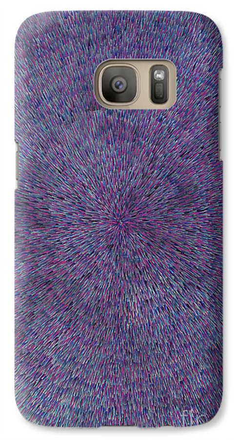 Abstract Galaxy S7 Case featuring the painting Radiation Violet by Dean Triolo