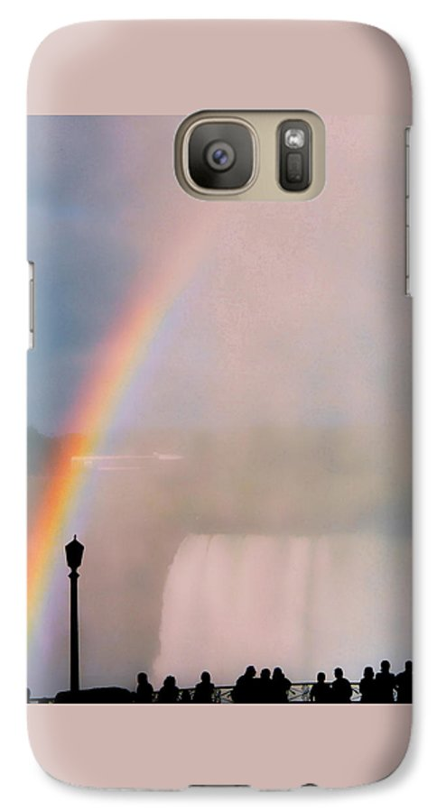 Rainbow Galaxy S7 Case featuring the photograph Rainbow Falls by Pharris Art