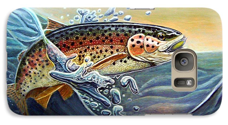 Rick Huotari Galaxy S7 Case featuring the painting Rainbow by Rick Huotari