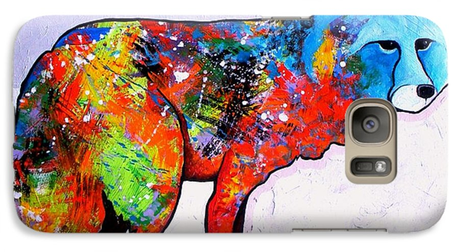 Animal Galaxy S7 Case featuring the painting Rainbow Warrior - Fox by Joe Triano