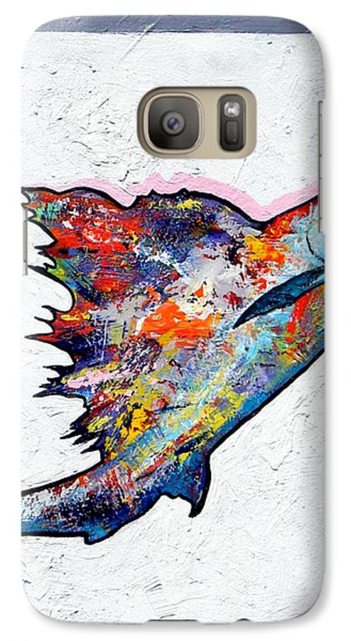 Wildlife Galaxy S7 Case featuring the painting Rainbow Warrior - Sailfish by Joe Triano