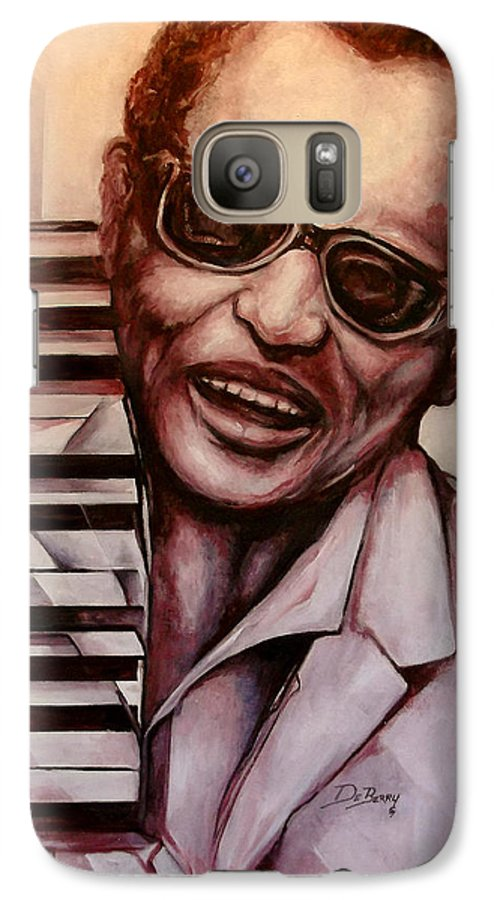 Original Fine Art By Lloyd Deberry Galaxy S7 Case featuring the painting Ray The Print by Lloyd DeBerry