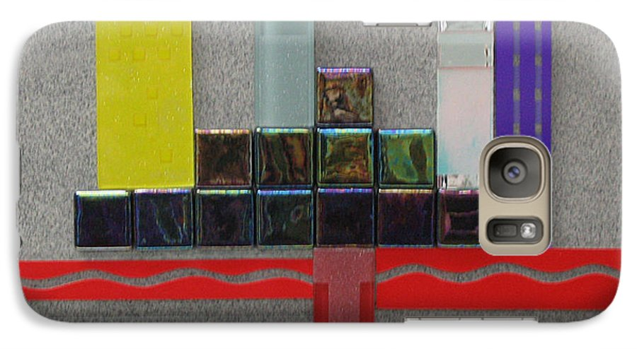 Assemblage Galaxy S7 Case featuring the relief Red River City by Elaine Booth-Kallweit