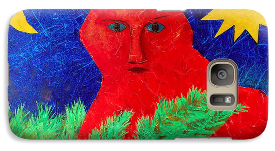 Fantasy Galaxy S7 Case featuring the painting Red by Sergey Bezhinets
